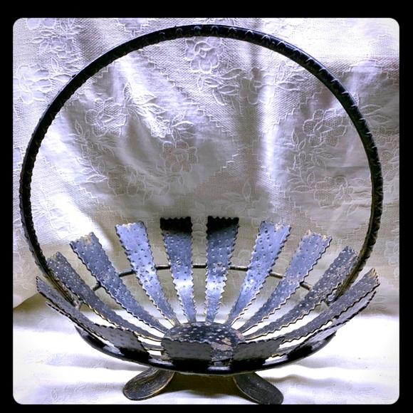 MCM Spanish Brutalist Handled Bowl/Basket